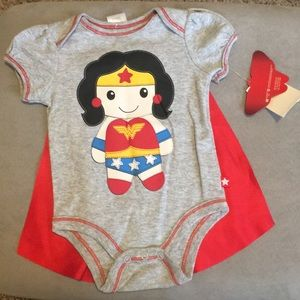 NWT Wonder Woman onesie with detachable cape